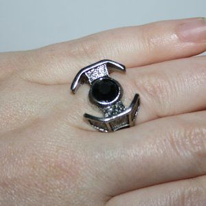 Black and silver ring size 7
